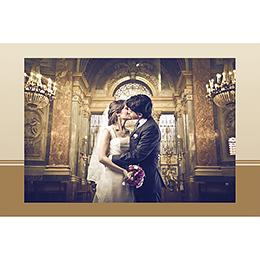 Carte de remerciement mariage Cérémonie doré gratuit