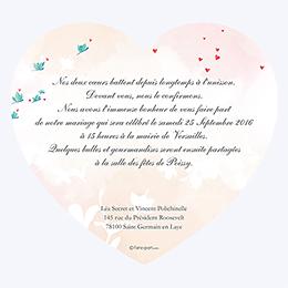 Faire-part de mariage Sensibilis coeur gratuit