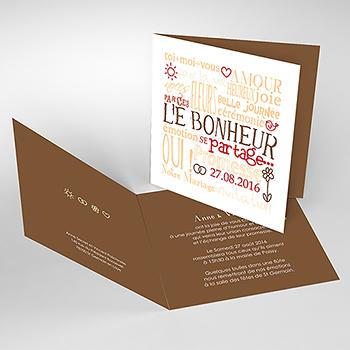 Faire-part de mariage Jeu de mots chocolat