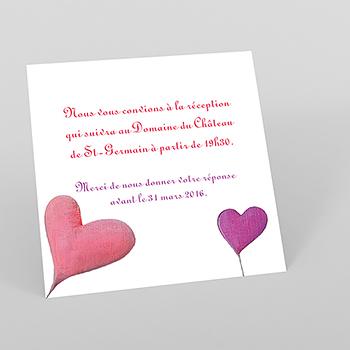 Carte d'invitation mariage La balançoire