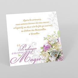 Carte d'invitation mariage Eternité