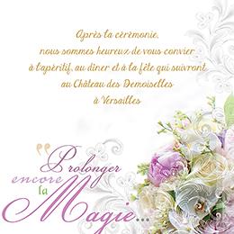 Carte d'invitation mariage Eternité  pas cher