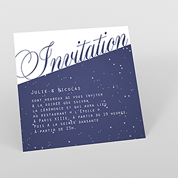 Carte d'invitation mariage Nuit étoilée