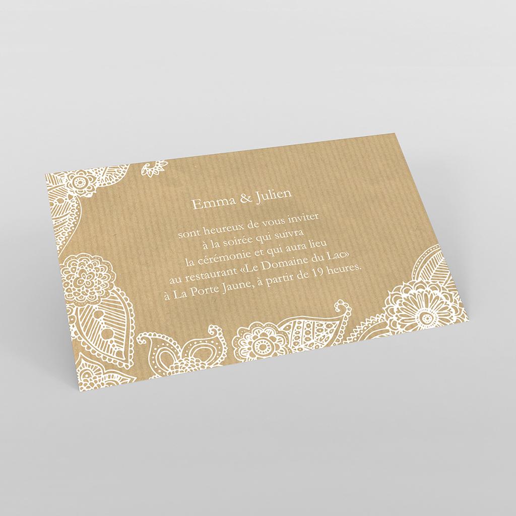 Carte d'invitation mariage Romantique