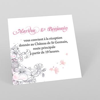 Carte d'invitation mariage Rêverie