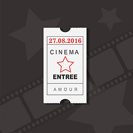 Faire-part de mariage Cinéma  gratuit