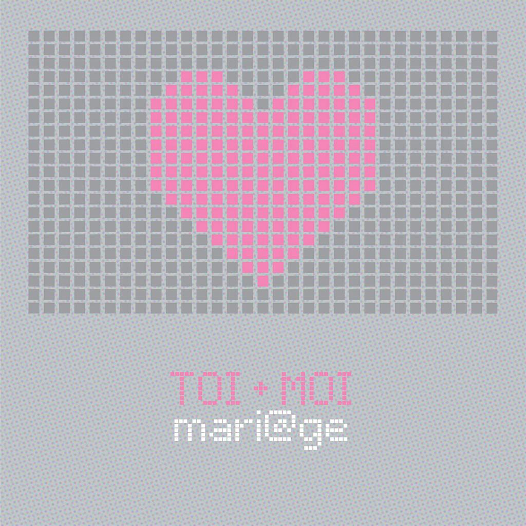 Faire-part de mariage Love.com  pas cher