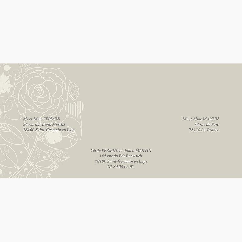Faire-part de mariage Mariage ivoire  gratuit