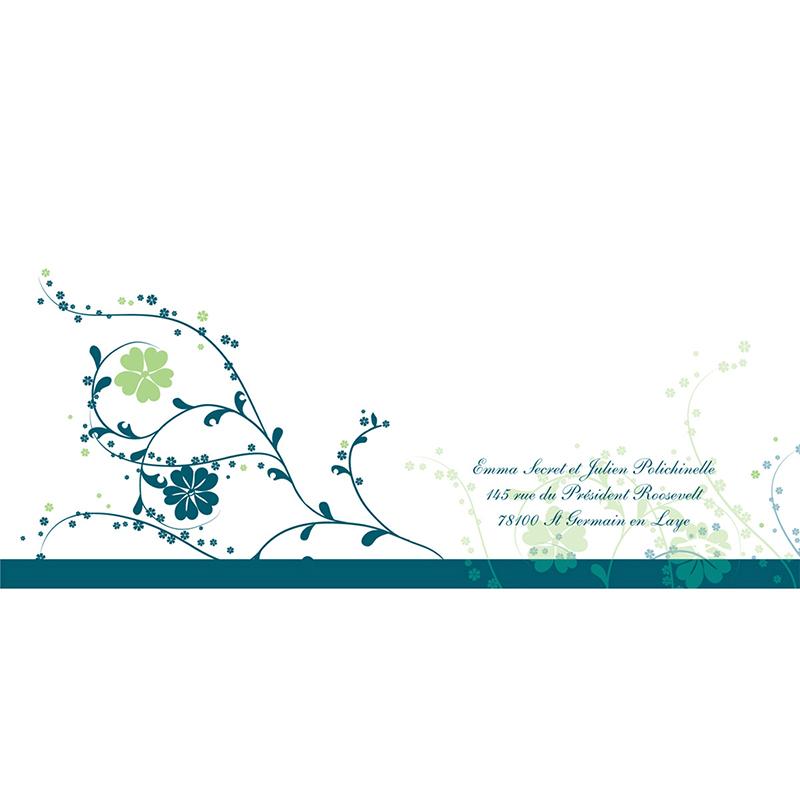 Faire-part de mariage Nuptial bleu gratuit