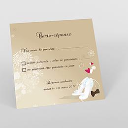 Carton réponse mariage Youpi 2 filles