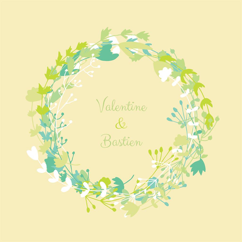 Faire-part de mariage Tourbillon de printemps pas cher