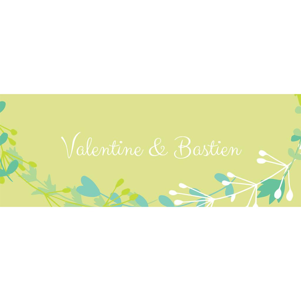 Marque-place mariage Tourbillon de printemps pas cher