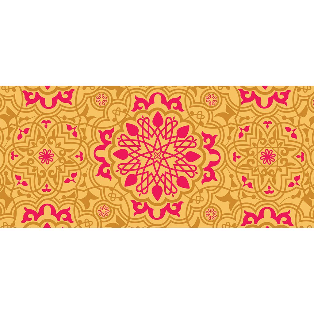Carte de remerciement mariage Mauresque rose jaune pas cher