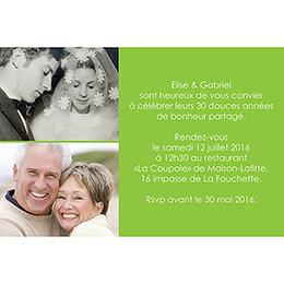 Carte anniversaire de mariage Jeu de mots vert gratuit