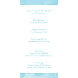 Menu mariage Bleu ciel  gratuit