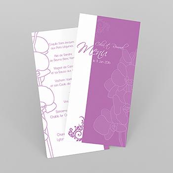 Menu mariage Orchidées