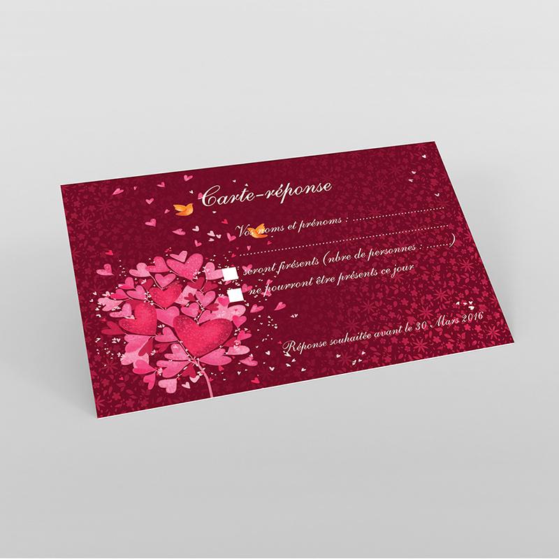 Carton réponse mariage L'Envolée