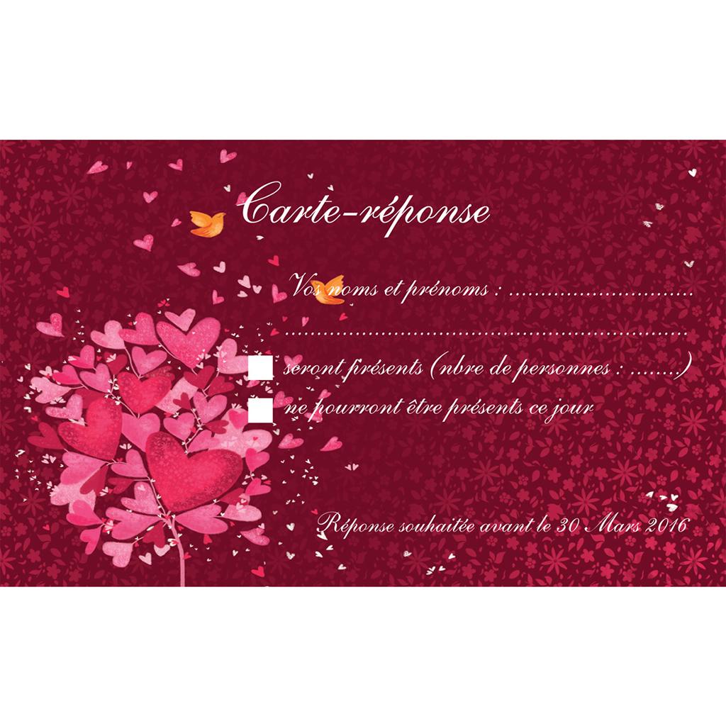 Carton réponse mariage L'Envolée  pas cher