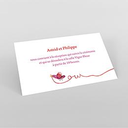 Carte d'invitation mariage Ode à l'amour
