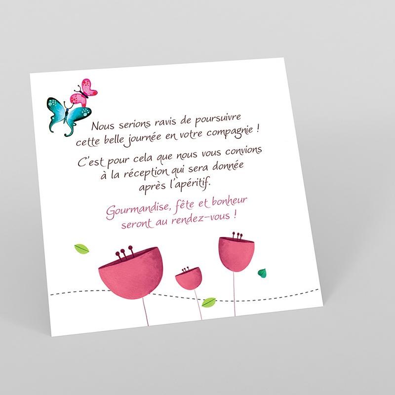 Carte d'invitation mariage Bucolique