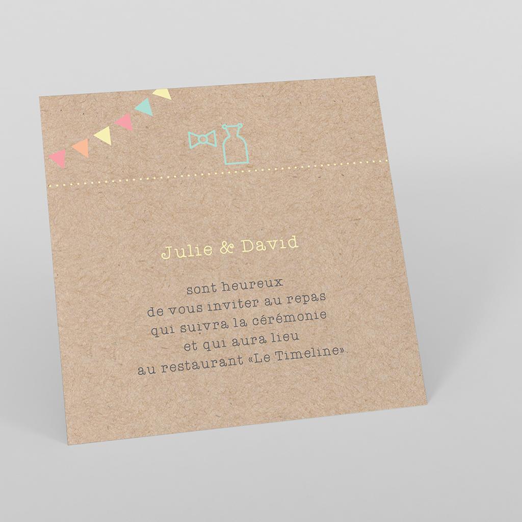 Carte d'invitation mariage Pretty love story rond