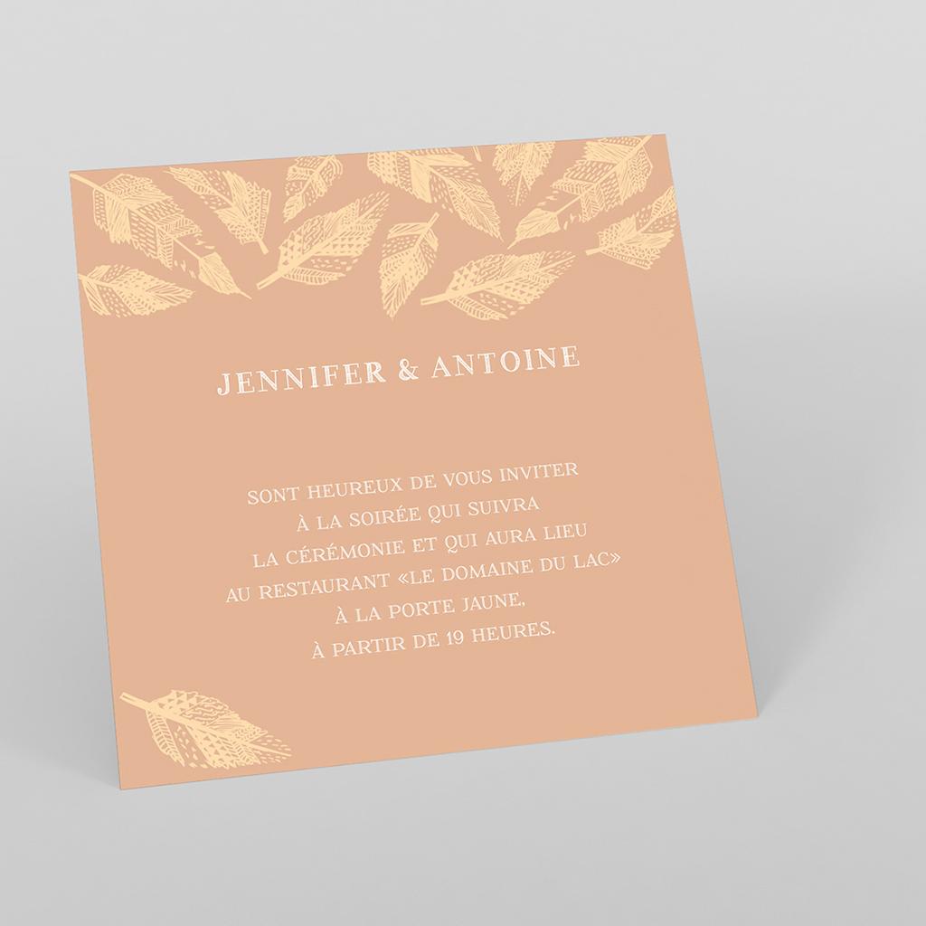 Carte d'invitation mariage Vent d'automne