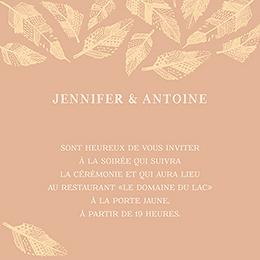 Carte d'invitation mariage Vent d'automne  pas cher