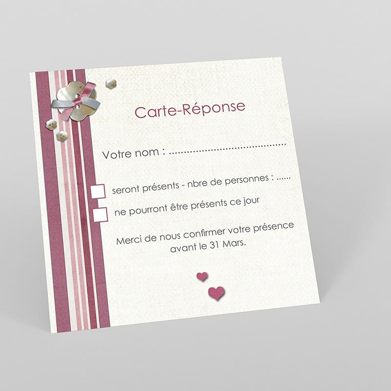 Carton réponse mariage Scrap'rose