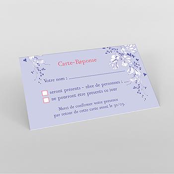 Carton réponse mariage Romance