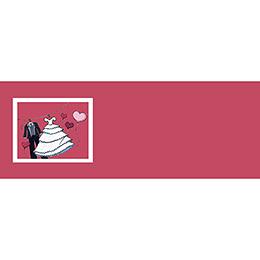 Marque-place mariage Union rouge gratuit