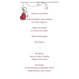 Menu mariage Les Coeurs coeur gratuit