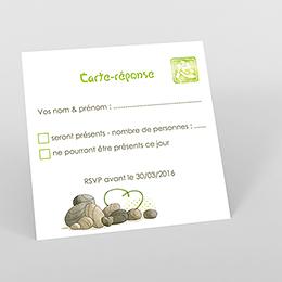 Carton réponse mariage Zen