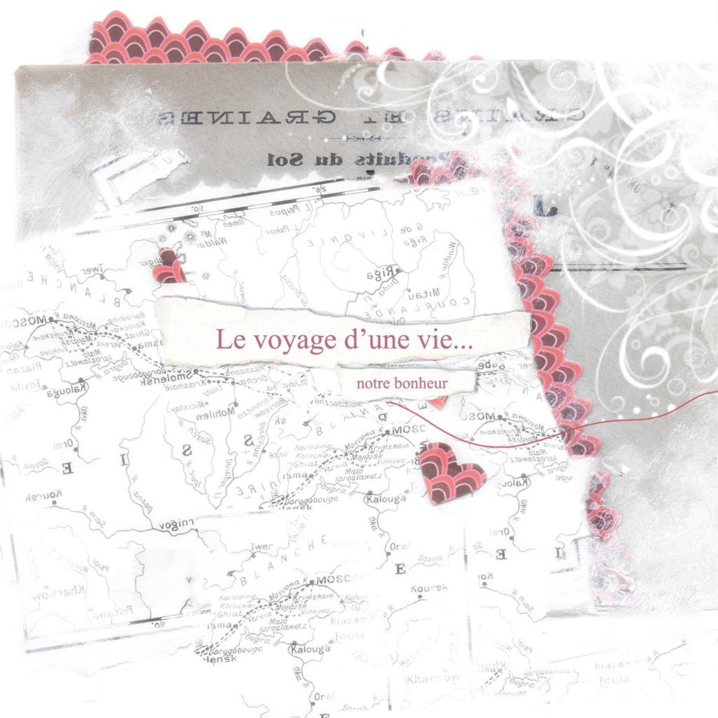 Faire-part de mariage Voyage d'amour  gratuit