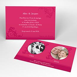 Carte anniversaire de mariage Cérémonie rose