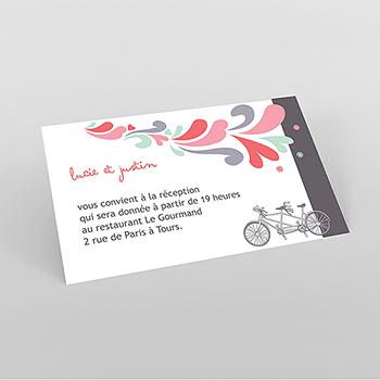 Carte d'invitation mariage Tandem