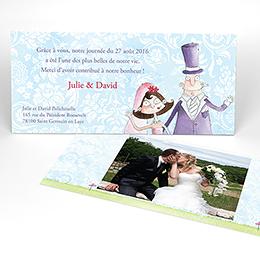 Carte de remerciement mariage Getting married