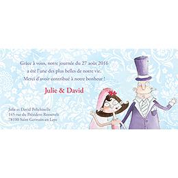 Carte de remerciement mariage Getting married  pas cher