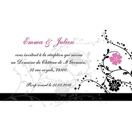Carte d'invitation mariage Nuptial noir pas cher
