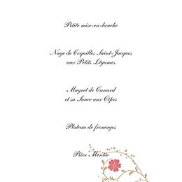 Menu mariage Nuptial doré