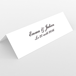 Marque-place mariage Nuptial rond noir rose
