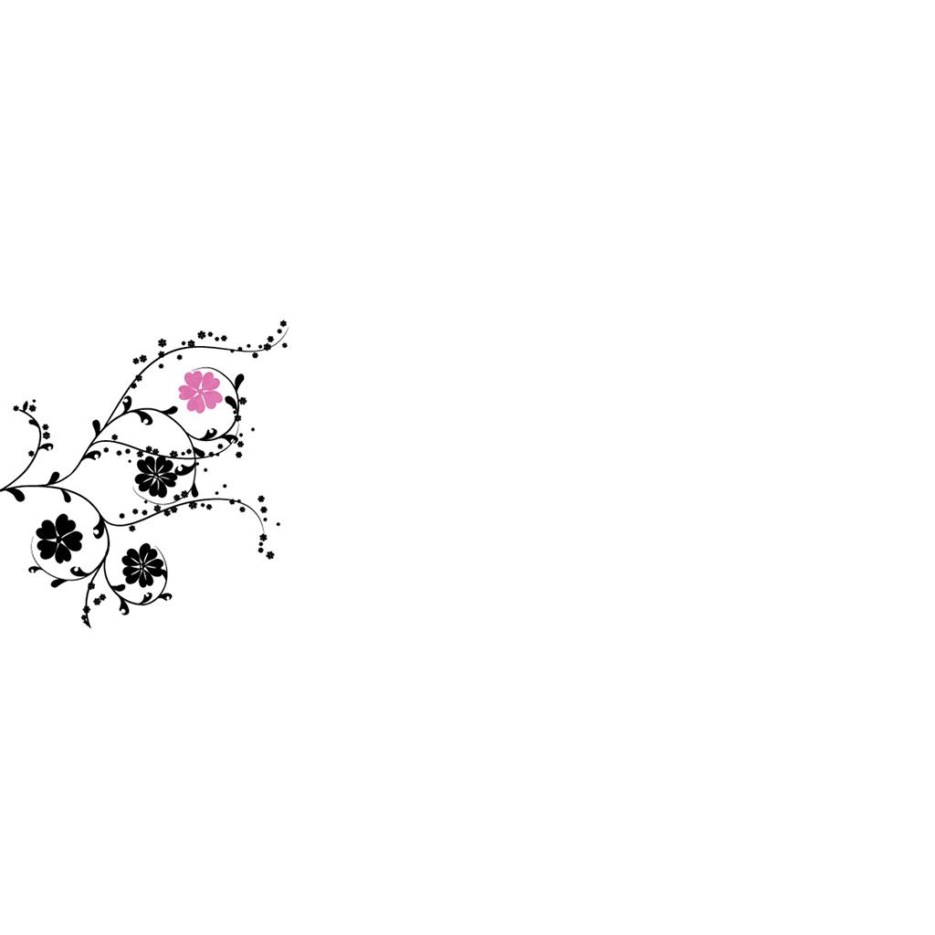 Marque-place mariage Nuptial rond noir rose gratuit