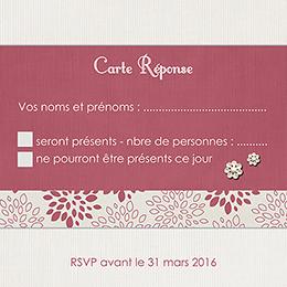 Carton réponse mariage Promesse pas cher