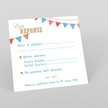 Carton réponse mariage Christian et Satine
