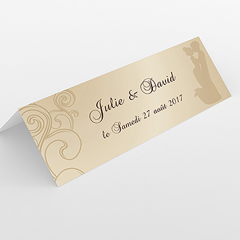 Marque-place mariage Youpi 2 filles