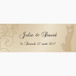 Marque-place mariage Youpi 2 filles pas cher