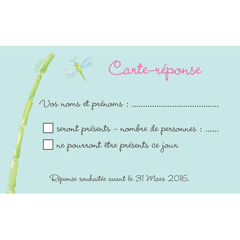 Carton réponse mariage Les Grenouilles  pas cher