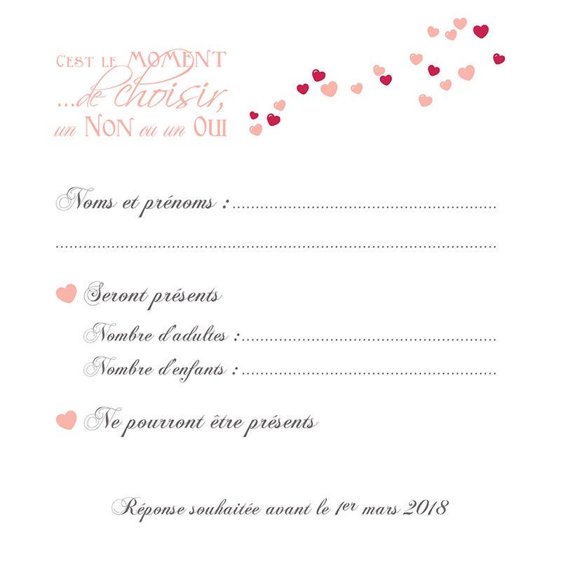 Carton réponse mariage Romeo et Juliette  pas cher