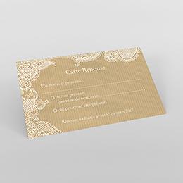 Carton réponse mariage Romantique