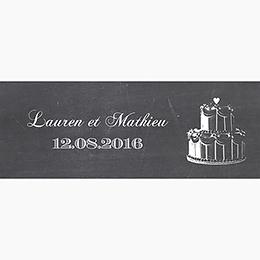 Marque-place mariage Wedding cake ardoise pas cher