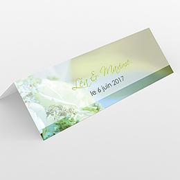 Marque-place mariage Florilège vert